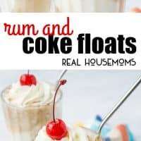 These Rum & Coke Floats are a simple, quick, and delicious summer twist on the class cocktail!
