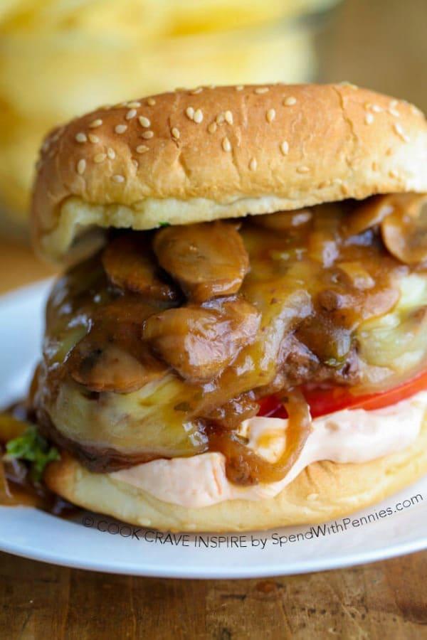 Salisbury Steak Burgers - Spend with Pennies