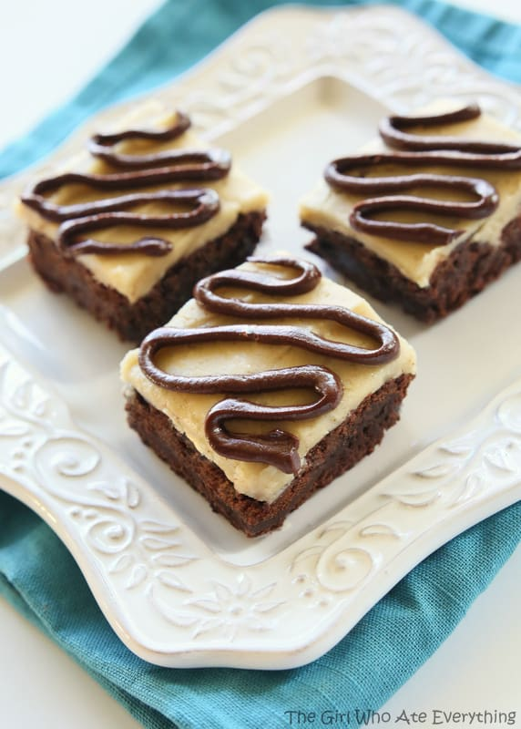 Salted Caramel Coconut Brownies - The Girl Who Ate Everything