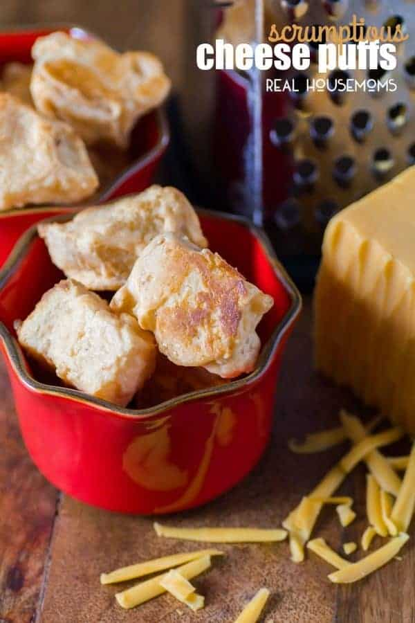 These Scrumptious Cheese Puffs are delicious hot out of the oven and are a great make ahead appetizer that you can have in the freezer ready and waiting for you!