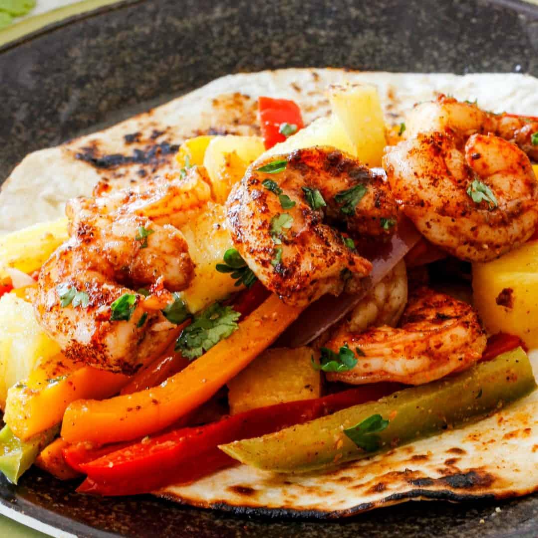 Sheet Pan Shrimp Fajitas ⋆ Real Housemoms