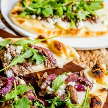 Short Rib Naan Pizza
