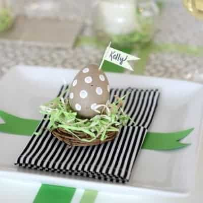 Simple Easter Placecard Idea