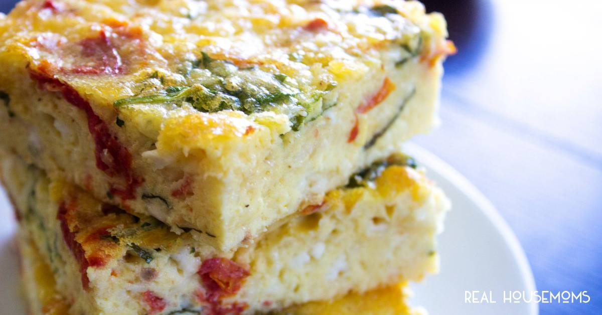 Simple Spinach Amp Tomato Breakfast Casserole Real Housemoms