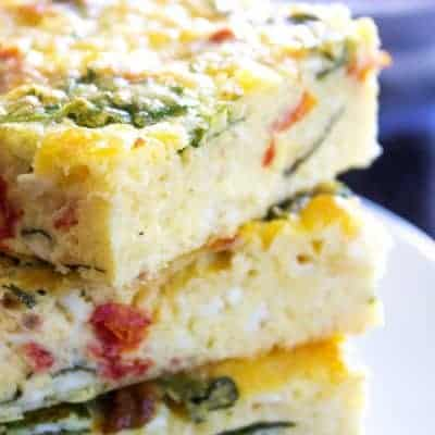 Simple Spinach & Tomato Breakfast Casserole Recipe