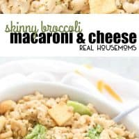 Skinny Broccoli Macaroni & Cheese is made all in one pot and is rich, creamy, and lighter on calories! Made with my special lightened-up ultra-creamy sauce!