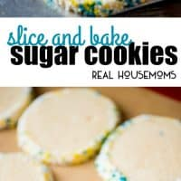 It takes just 5 minutes to whip up these classic Slice and Bake Sugar Cookies! Roll the dough in festive sprinkles for any occasion!