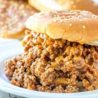 A super quick and easy meal this Sloppy Joe Recipe is a family favorite that is completely homemade and completely addicting!
