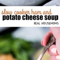 This super easy Slow Cooker Ham and Potato Cheese Soup has no morning prep involved! Just dump, go, and come home to a delicious meal the whole family loves!