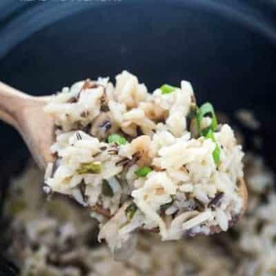 Slow Cooker Mushroom & Wild Rice Pilaf