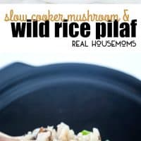 I cannot get over how easy this Slow Cooker Mushroom & Wild Rice Pilaf is! It's perfect for potlucks and holiday gatherings!