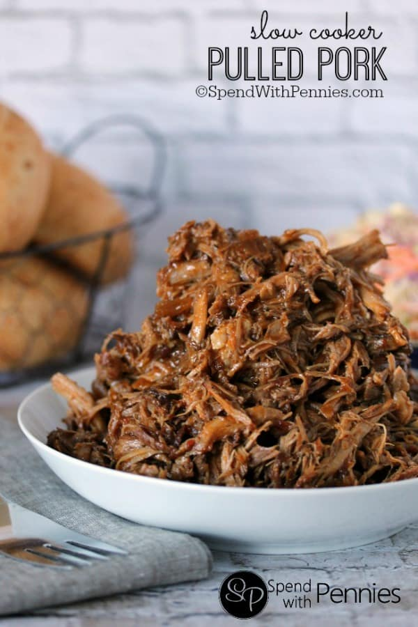 Slow Cooker Pulled Pork Sandwiches with Zesty Slaw - Spend with Pennies