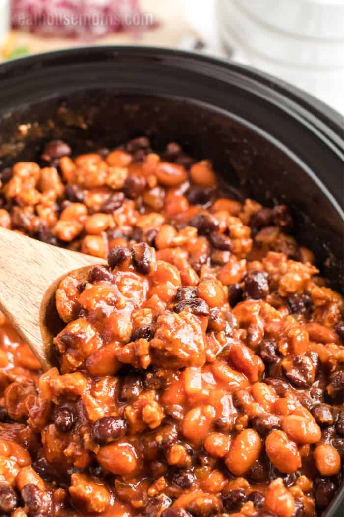 taco chili in a slow cooker