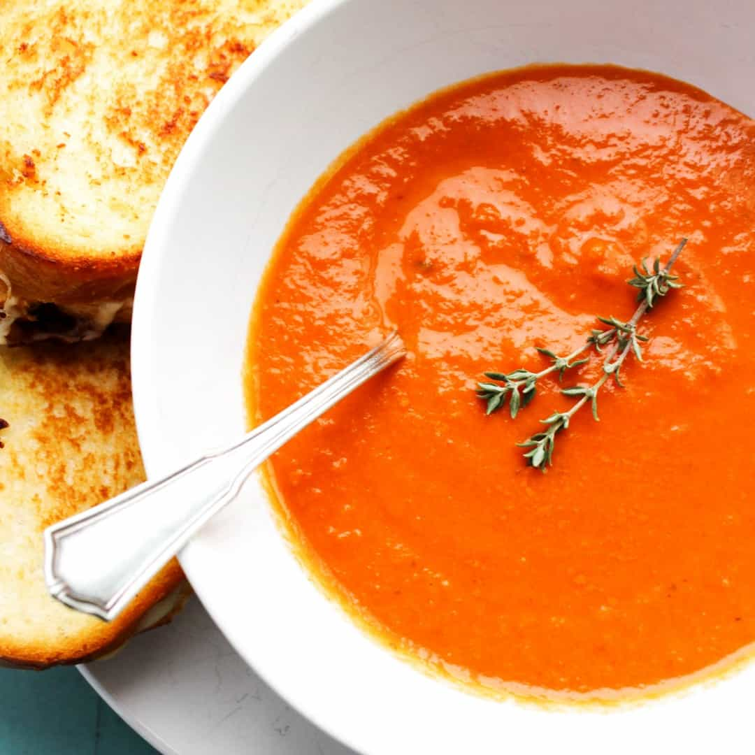 Slow Cooker Classic Tomato Soup ⋆ Real Housemoms