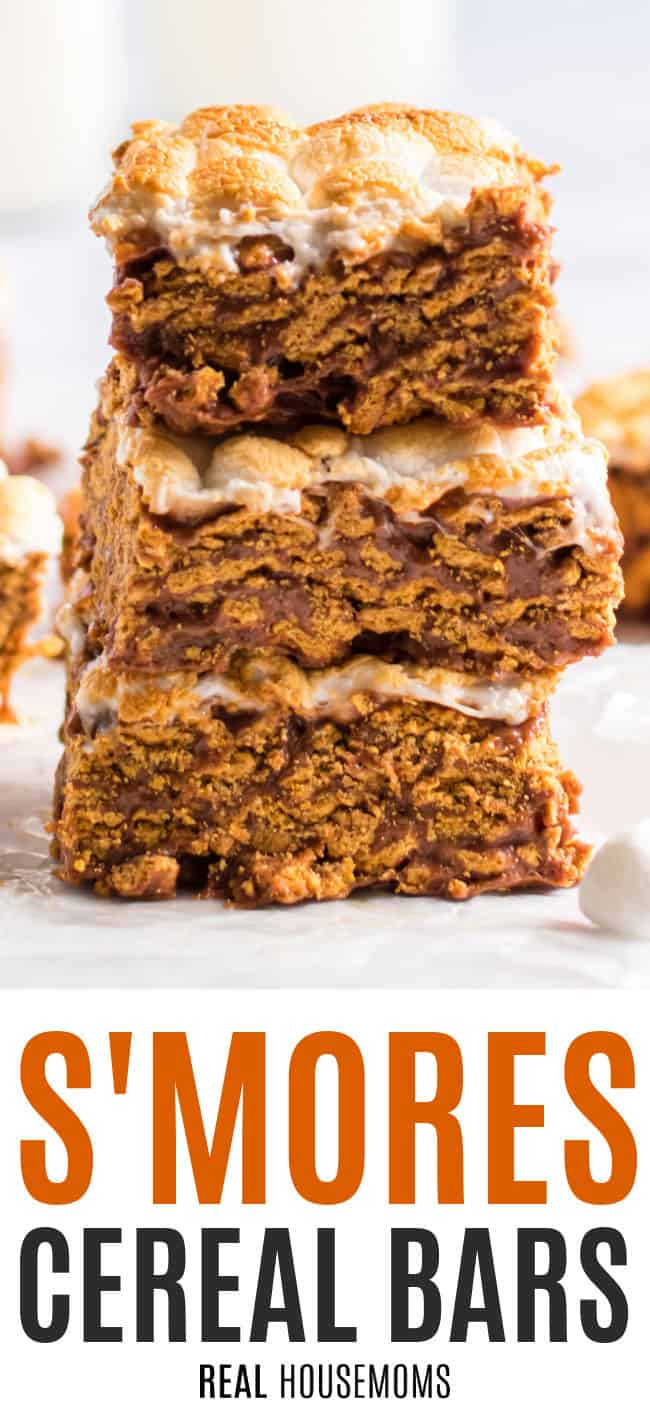 s'mores cereal bars stacked up