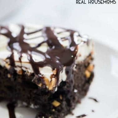 Snickers Poke Cake