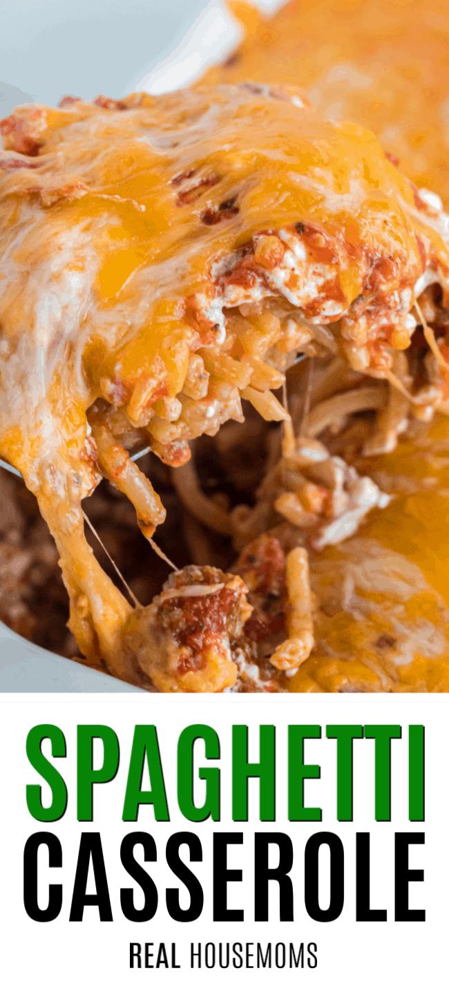 spoonful of spaghetti casserole