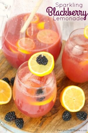 Sparkling Blackberry Lemonade by Delightful E Made