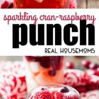 Sparkling Cran-Raspberry Punch is the perfect combination of sweet and tart! This easy punch is ideal for parties, brunch, or a night in with friends!
