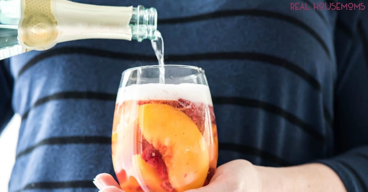 Sparkling White Peach Sangria-Easy Sangria Recipe-Real ...