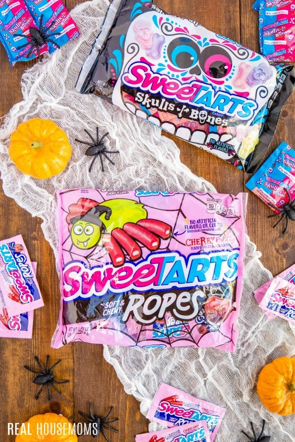 SweeTARTS ropes and SweeTARTS skull & bones candies