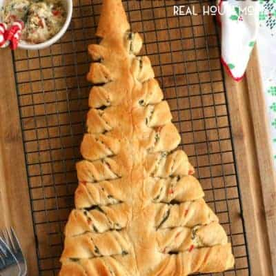 Spinach Dip Stuffed Crescent Roll Christmas Tree
