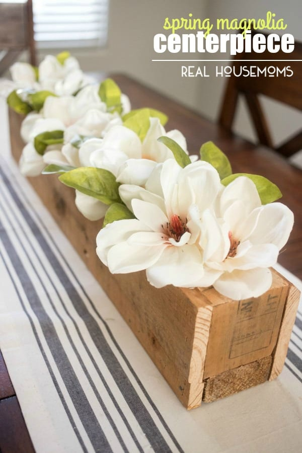 Spring Magnolia Centerpiece Real Housemoms