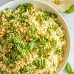 Spring Rice Pilaf with Asparags and Peas