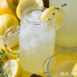 SPRING THYME LEMONADE is a gorgeous, refreshing lemonade infused with thyme makes it a perfect beverage for spring!!