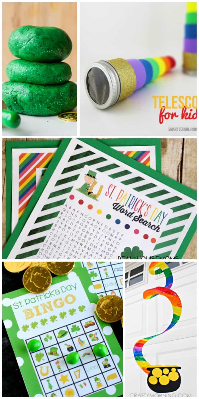These fun and festive 25 ST. PATRICK'S DAY CRAFTS & PRINTABLES are perfect to keep from getting pinched and spreading some Irish cheer!