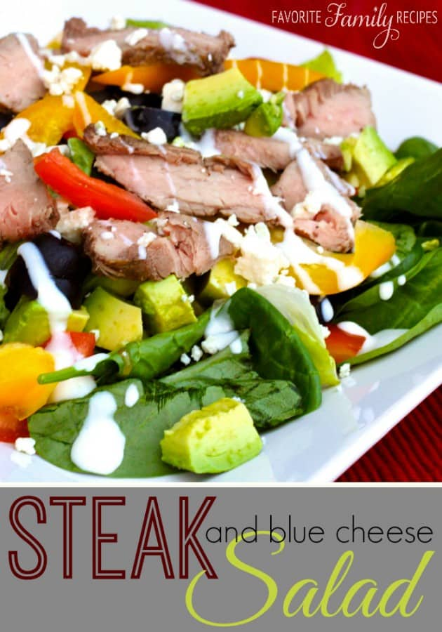 Steak Salad with Blue Cheese and Avocados - Favorite Family Recipes