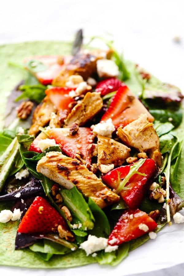 Strawberry Balsamic Chicken Wrap - The Recipe Critic