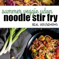 Skip the meat and fill up on this Japanese Summer Veggie Udon Noodle Stir Fry that takes less than 30 minutes to throw together!
