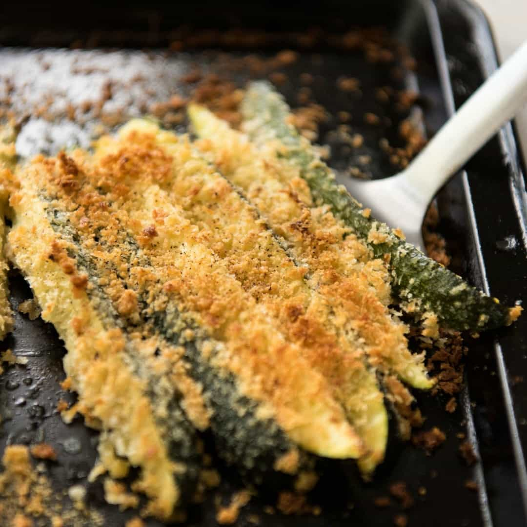 Super Easy Parmesan Crusted Zucchini With Video ⋆ Real