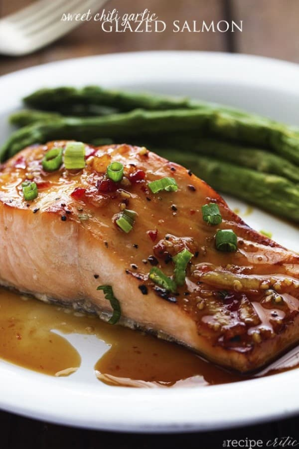 Sweet Chili Garlic Glazed Salmon - The Recipe Critic