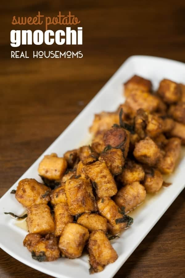 Chances are you've eaten gnocchi before, but this homemade whole wheat SWEET POTATO GNOCCHI is a healthier version perfect for fall!