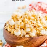 This Sweet & Smoky Popcorn is bold in flavor, light in texture, and totally addicting! Make a big batch of this tasty snack to enjoy with your loved ones!