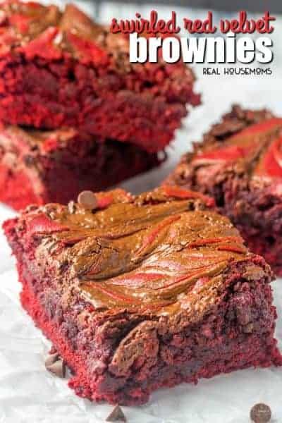 Swirled Red Velvet Brownies