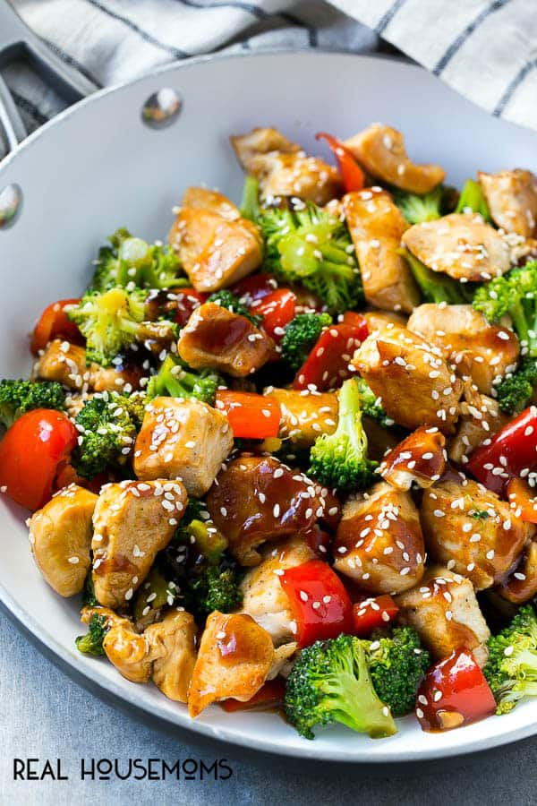 Teriyaki chicken and vegetables real housemoms this teriyaki chicken and vegetables is an easy and healthy meal thats perfect for a busy forumfinder Image collections