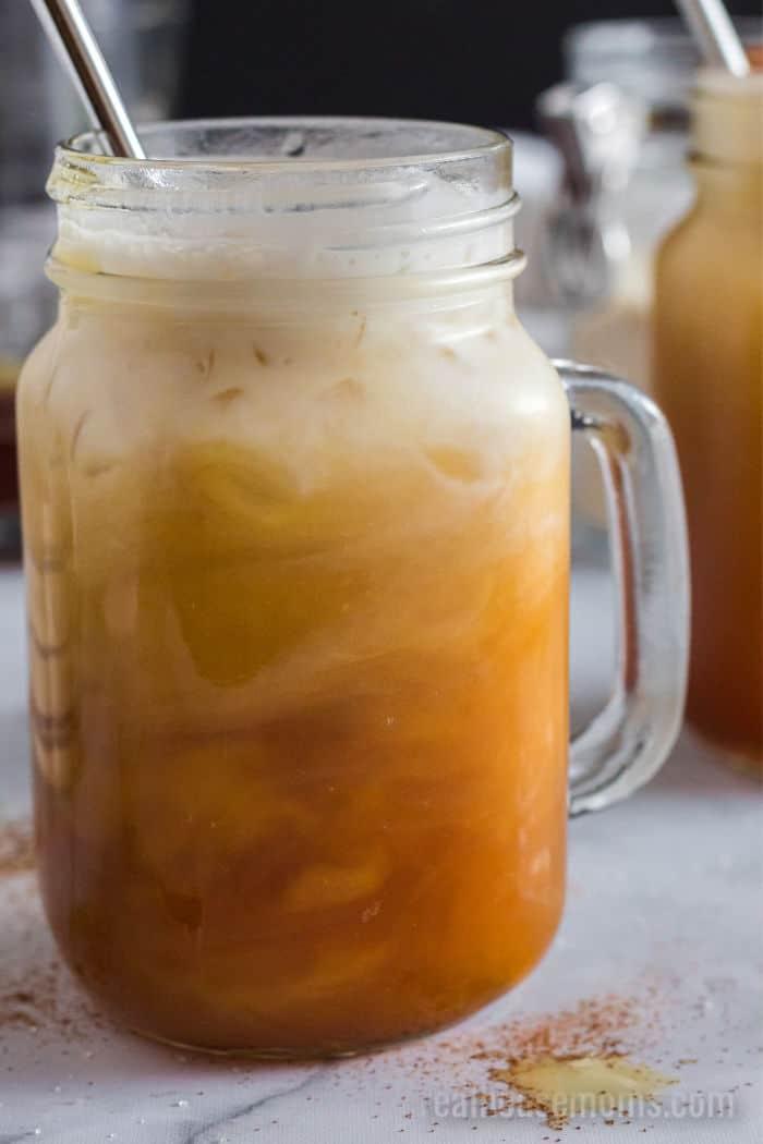 thai iced tea with coconut milk