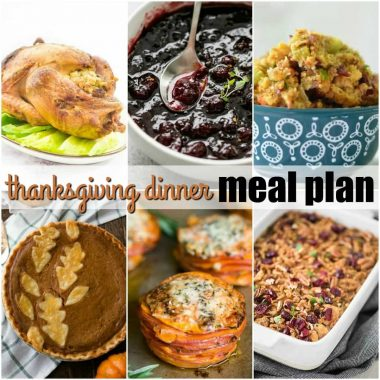Thanksgiving Dinner Meal Plan