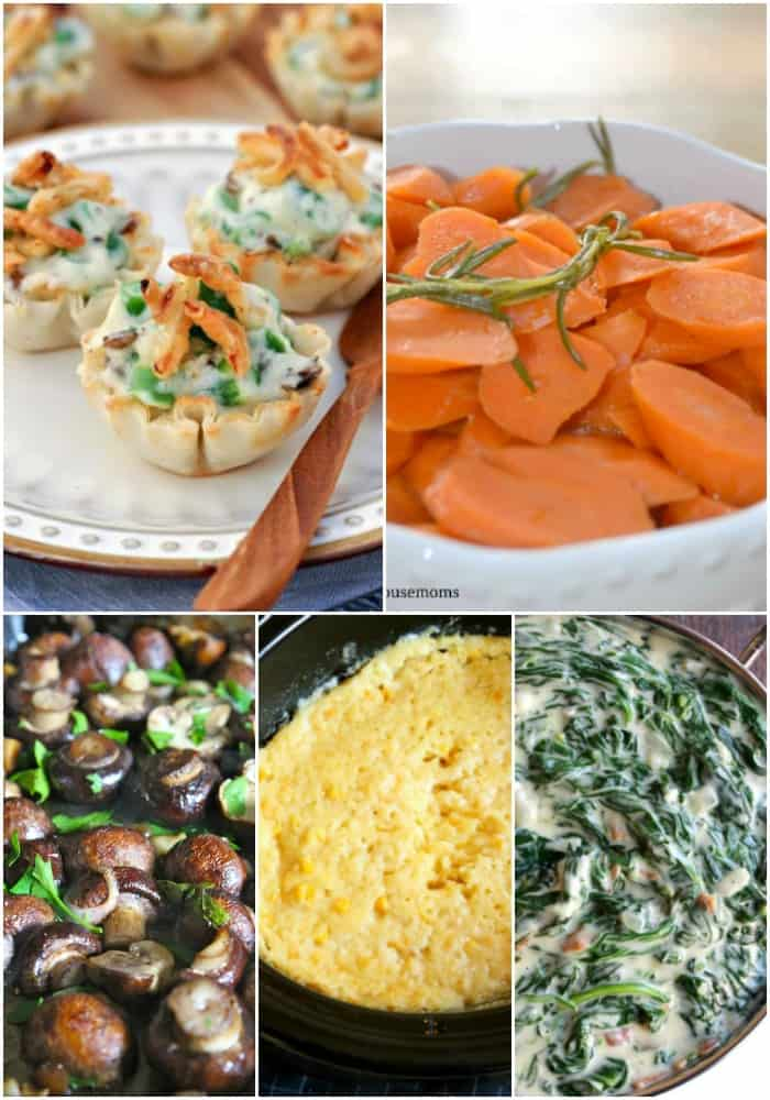make ahead vegetable side dishes for Thanksgiving