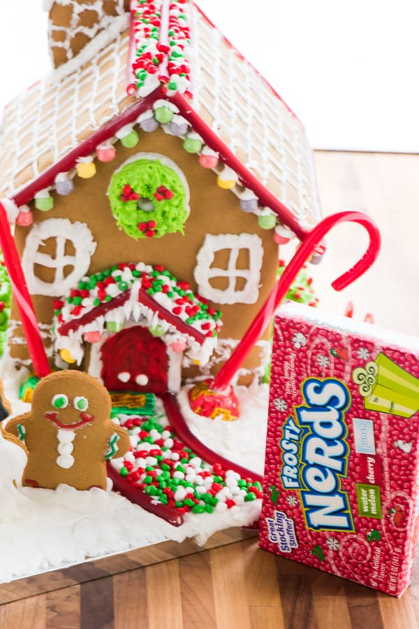 This is the BEST Gingerbread Icing! It helps to stick everything together and holds it just like glue! You'll make the prettiest gingerbread houses with this glue in your hand!