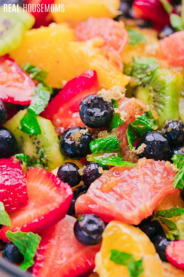 close up of the best fruit salad recipe