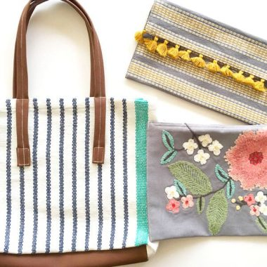 With a quick trip to Target's home décor, you can find items that will accessorize your spring wardrobe in a flash and under $10 with these THREE EASY SPRING PURSE TUTORIALS!!