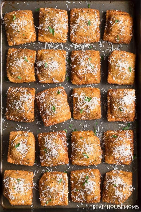 These crisp fried TOASTED RAVIOLI, a St. Louis specialty, are the perfect appetizer to any Italian meal!