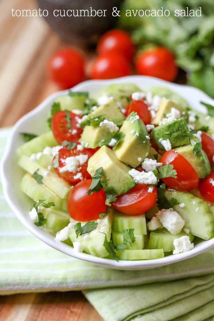 Tomato Cucumber Avocado Salad - Lil' Luna
