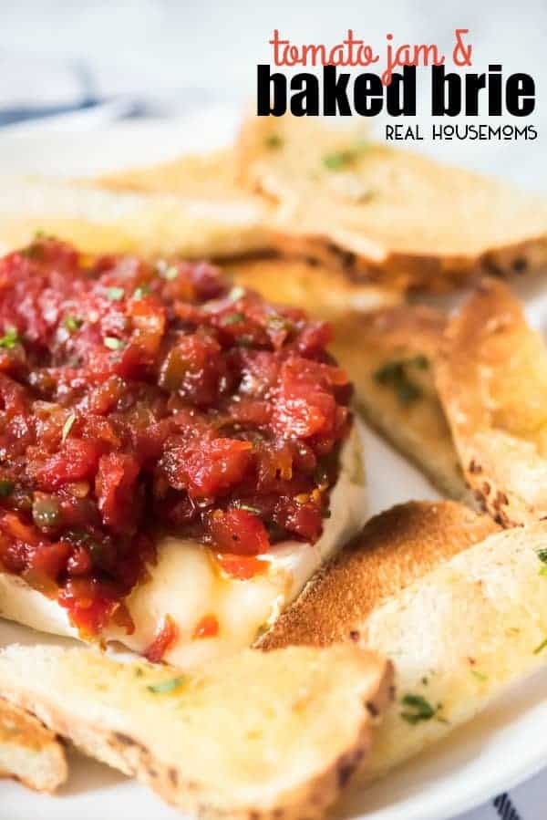 Tomato Jam is a simple appetizer recipe that can be used for any occasion! Serve it up while watching the game, cocktails with friends or the holidays! It will be the hit of the party!