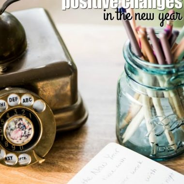 I love these ideas for making positive changes in the new year!
