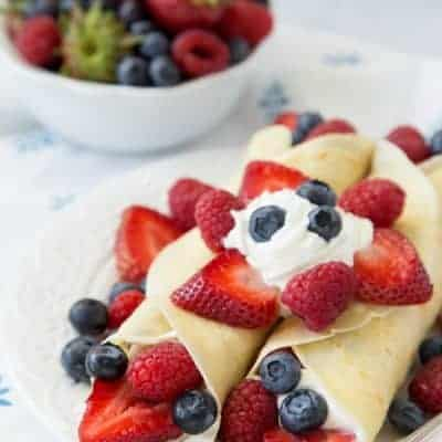 Triple Berry Crepes